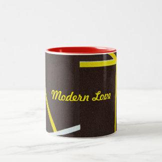 Two tone coffee mug Modern Love