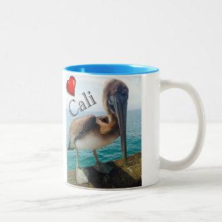 "Two tone coffee mug, pelican ""SoCal"" Two-Tone Coffee Mug"