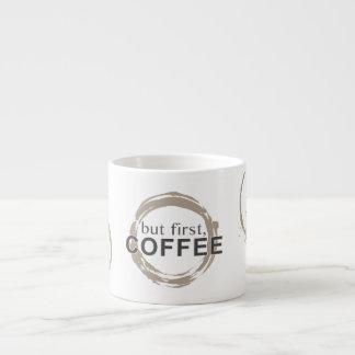 Two-Tone Coffee Mug Rings - But First, Coffee Espresso Mug