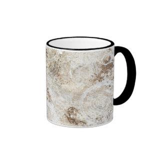 """""""two tone coffee mug""""  trendy artistic """"shabby"""" ringer mug"""