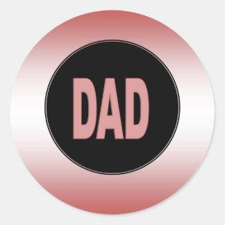 Two Tone Dad Round Sticker