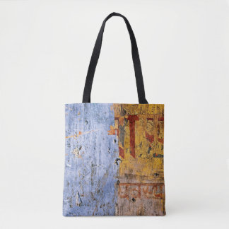 Two-tone Distressed Paint Tote