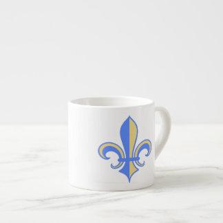 Two Tone Fleur-de-Lis Espresso Cup