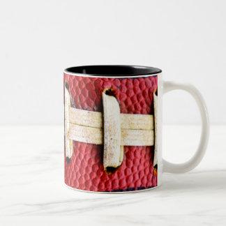 Two tone football mug
