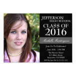 Two-Tone Graduation Invitations (Black)