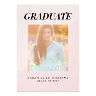 Two Tone Graduation Invitations   Blush Pink