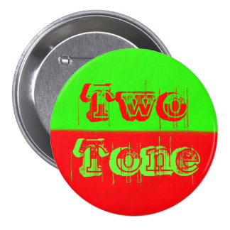 Two Tone - Green and Red 7.5 Cm Round Badge