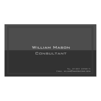 Two Tone Grey, Professional Business Card