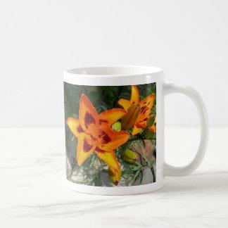 two tone lily mug