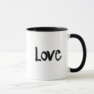 two tone love and heart coffee mug