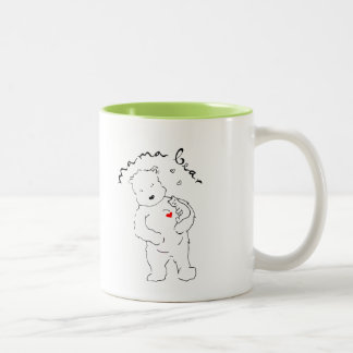 Two-tone Mama Bear coffee mug. Two-Tone Coffee Mug