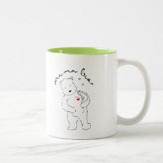 Two-tone Mama Bear coffee mug. Two-Tone Mug
