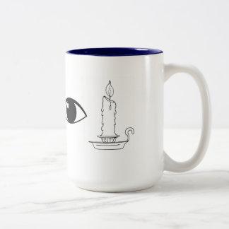 "Two-Tone Mug ""I Candle"""