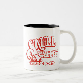 Two Tone Mug w/ Skull Valley, Arizona Logo