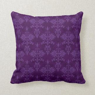 Two Tone Purple Damask Cushion