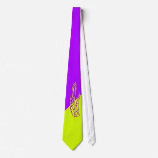 Two-tone purple & light green tie