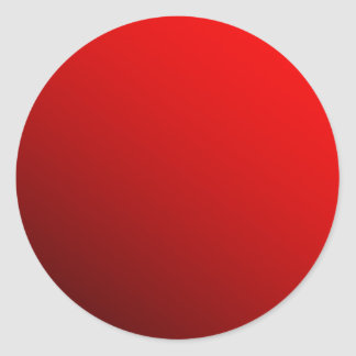 Two Tone Red Round Sticker