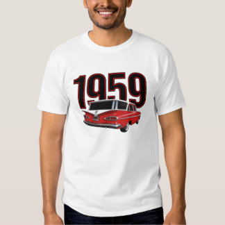 Two-tone red & white 1959 Chevrolet station wagon, T-Shirt