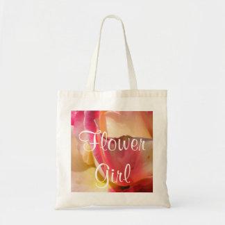 Two Tone Rose Wedding Tote Bag
