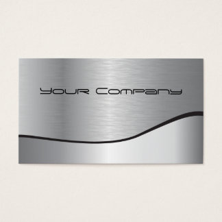 Two-tone Silver Corporate Business Card