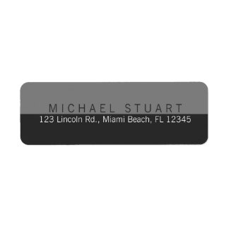 Two Tone | Simple Modern Minimalist Custom Color Return Address Label