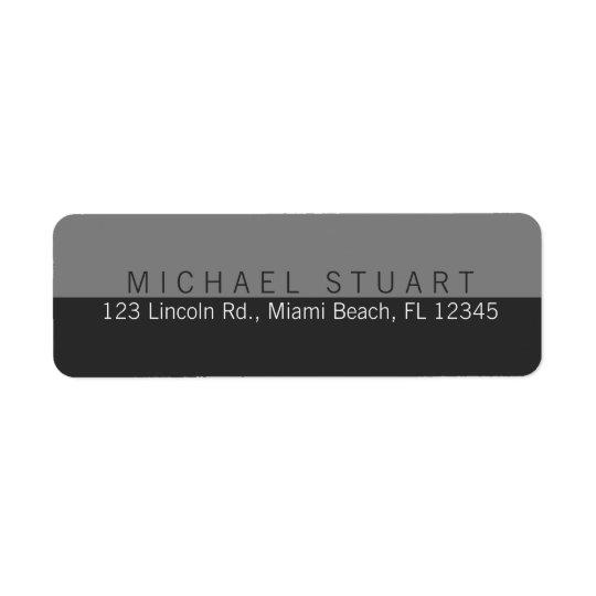 Two Tone | Simple Modern Minimalist Custom Colour Return Address Label