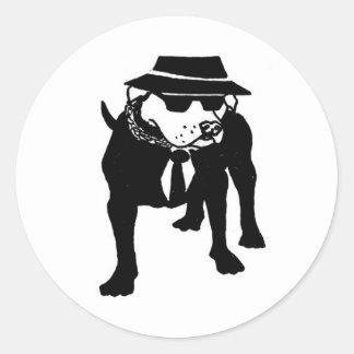 Two Tone Ska Dog Round Sticker