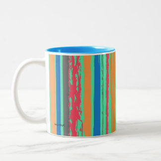 two tone stripe coffee mug
