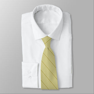 Two tone stripes spring green and cream tie