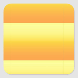 Two Tone Sunshine Yellow Square Sticker
