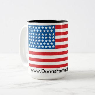 Two toned 15oz patriotic coffee mug