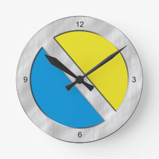 Two-Toned Blue and Yellow Wall Clock