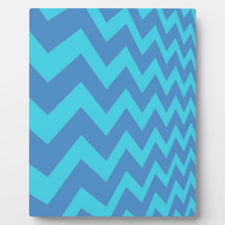 Two Toned Blue Chevron Display Plaque