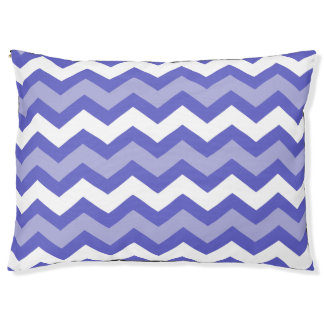 Two Toned Blue Chevron Doggie Bed