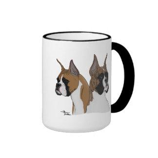 Two-toned boxer coffee mug