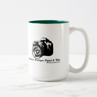 Two-Toned Coffee Mug w/ Camera Logo