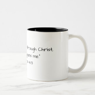 Two Toned Coffee Mug with Scripture Reference
