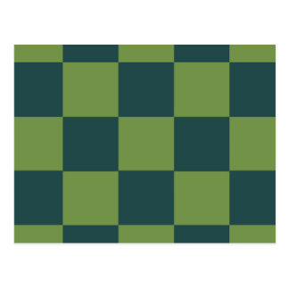 Two Toned Green Checkerboard Postcard