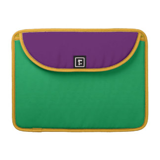 Two-Toned Green & Purple MacBook Pro Sleeve