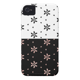 Two Toned Multi-Flower Pattern iPhone 4 Case-Mate Case