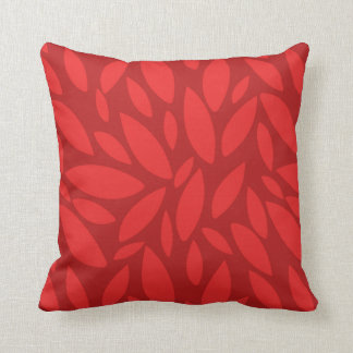 Two toned orange autumn fall leaves cushion