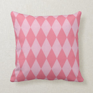 Two Toned Pink Harlequins Cushion