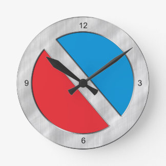 Two-Toned Red and Blue Wallclock