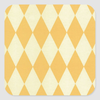 Two Toned Yellow Harlequins Square Sticker