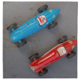 Two toy vintage cars napkin