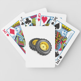Two tractor wheels bicycle playing cards