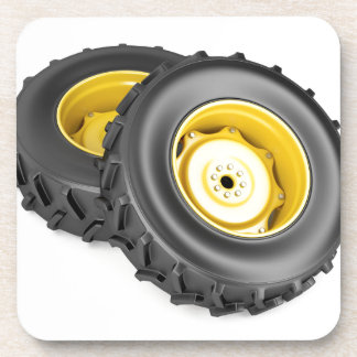 Two tractor wheels coaster