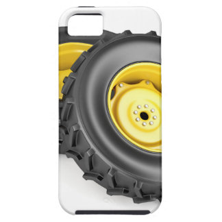Two tractor wheels iPhone 5 case