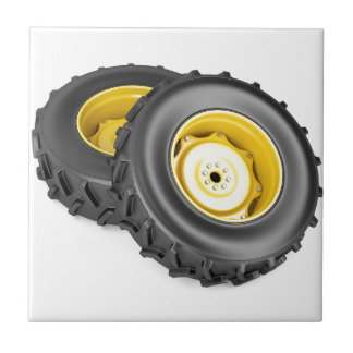 Two tractor wheels tile