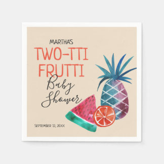 Two-tti Frutti Baby Shower Disposable Napkins